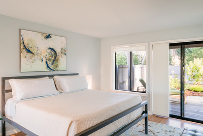 Master Bedroom with view to the back deck and garden