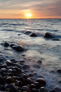 Sunset near Lohme, Ruegen Island, NE Germany (Baltic Sea)
