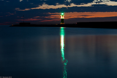Lighthouse at Warnemuende, NE Germany (Baltic Sea)
