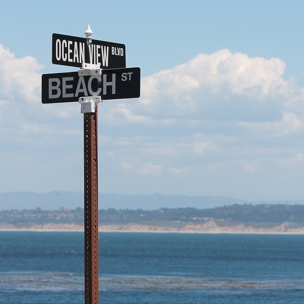 Monterey Bay Pacific Grove Beach Sign