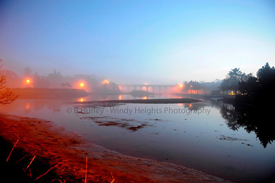 Ballydehob Old Railway Bridge in Fog  Photography by Richard Hurley
