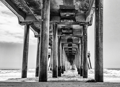 Huntington Beach Pier B&W
