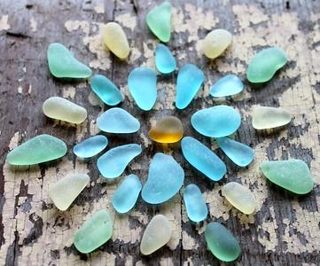 Mandala Blue Sea Glass