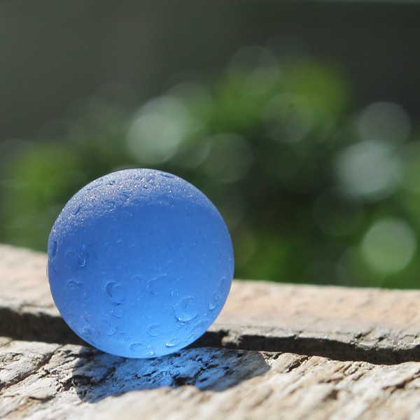 Cobalt Blue Sea Glass Marble