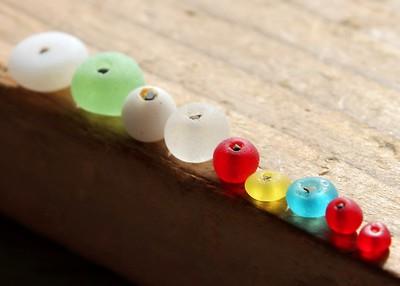 Tiny Vintage Found Sea Beads