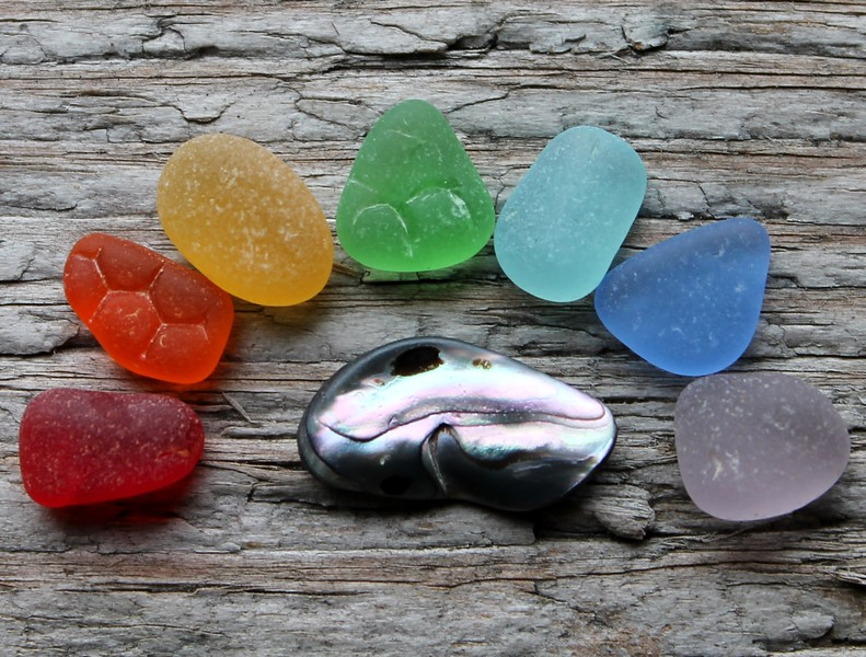 Rainbow of Sea Glass