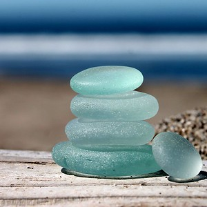 Stinson Beach Sea Glass Stack