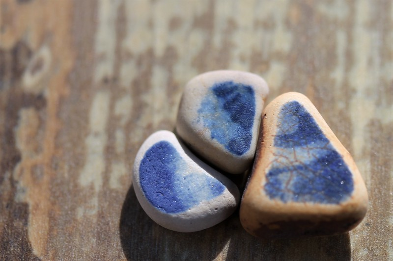 Nesting Blue Sea Pottery Finds