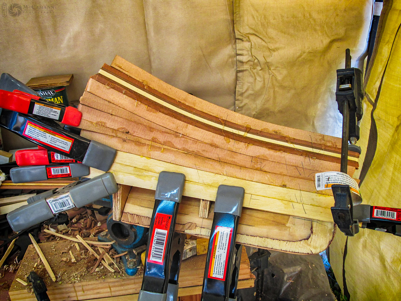 Building a new stern piece half.