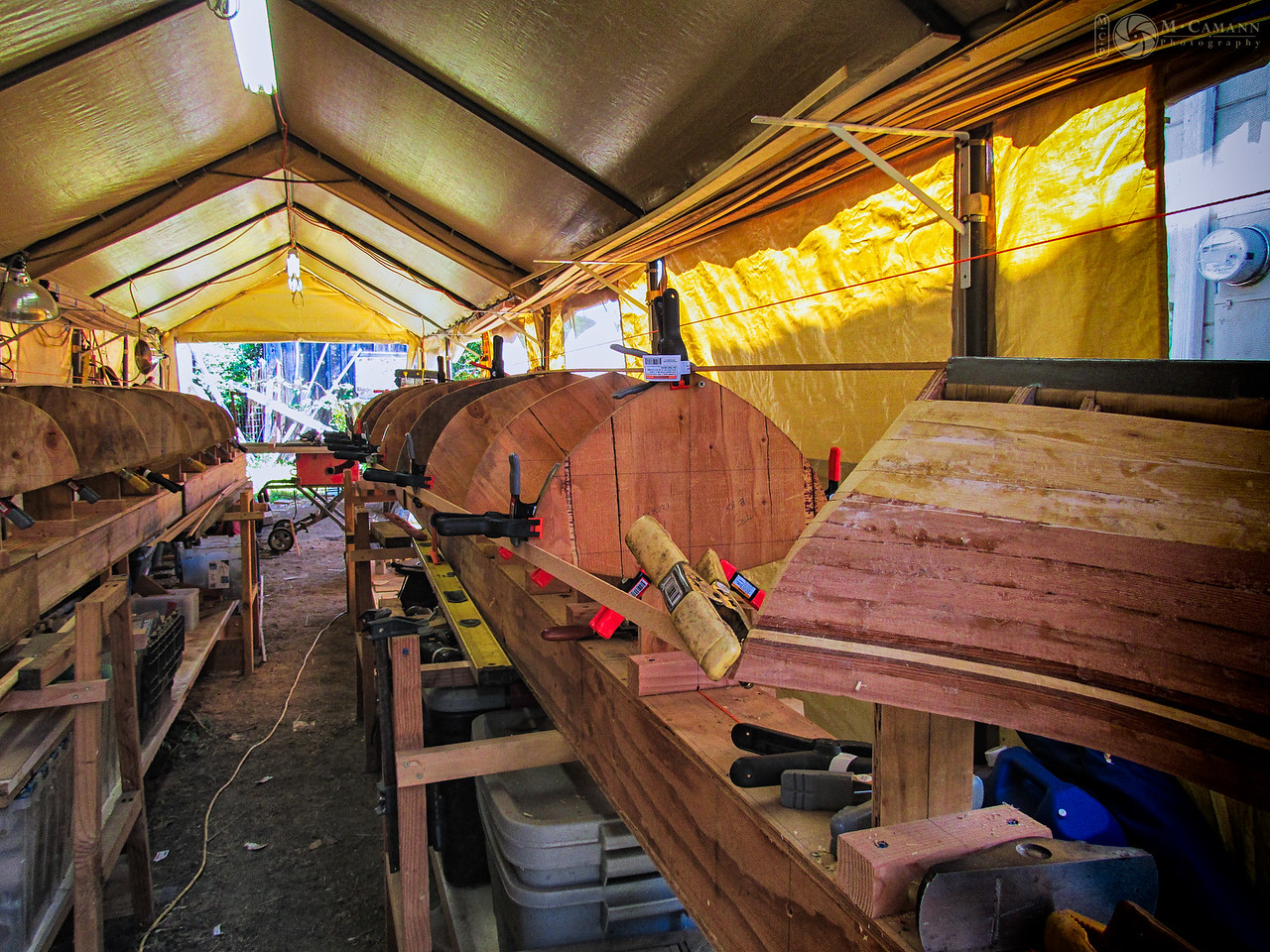 Lining up station molds for the Twin Star tandem. June 23, 2015.