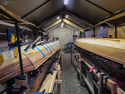 October 3, 2015.  Beginning to fill in the North Star hull with Alaskan yellow cedar.