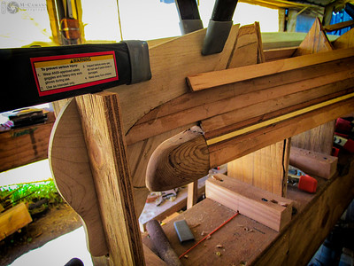 September 6, 2015.  Stripping the North Star bottom with Western red cedar.
