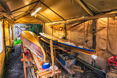 Sea kayak build, 25 June 2017.