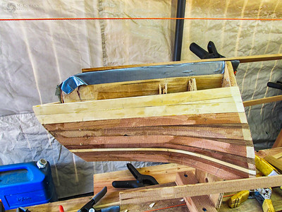 August 20, 2015.  Finally, the bow and stern assemblies for the North Star single kayak were completed.