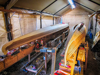 November 7, 2015.  Stripping the North Star bottom.  I love the smell of Alaska yellow cedar as it's cut and worked.
