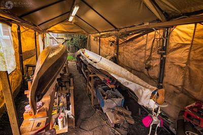 Sea kayak build, 26 June 2017.