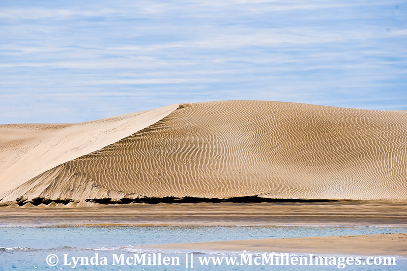 Sand dune in Magdalena Bay, Mexico.