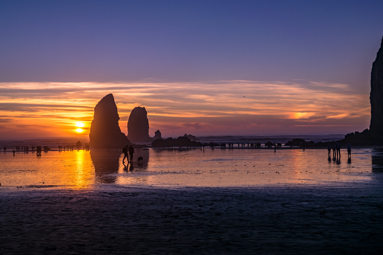 Cannon Beach Sunset by the Needles