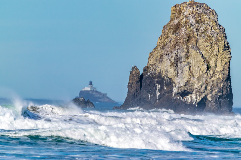 Surf, Rock & Lighthouse