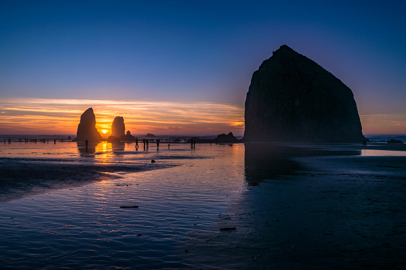 Haystack Rock and the Needles Sunset