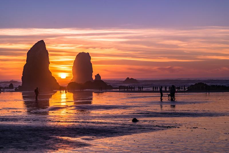 Needles Sunset Cannon Beach