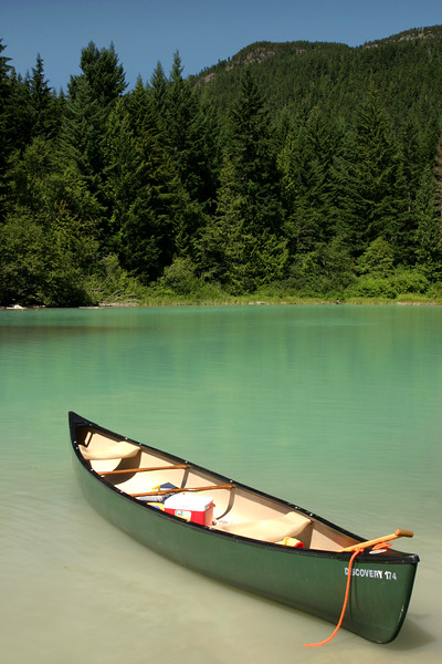 We spent the day out on Green Lake just North of Whistler. The lake is glacier fed, which creates this tranquil green color. Although the guide books say it's too cold to swim, we jumped in since it was a very hot 28°.