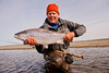 Val with a nice sea trout from Maria Behety