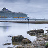 Harmony of the Seas passing Hoek van Holland