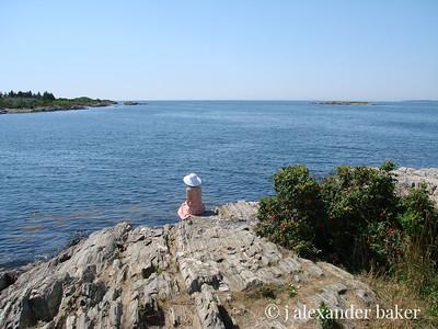 She waits by the sea