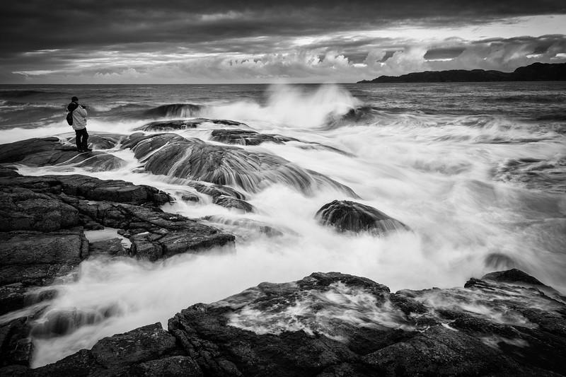 Harsh Waves of Barents Sea / The Arctic Ocean / Kola Peninsula / Russia