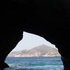 View through a cave; Greece