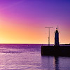 Sunset at Anstruther, fife, scotland.