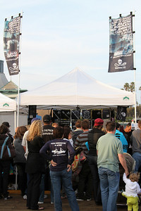 "The never-ending line at the Sea Shepherd Merchandise Booth.  Animal Planet's Whale Wars Season 4 Premier: ""Operation No Compromise"" Antarctic Campaign. Hosted by Animal Planet, L.A. Times & Brand X at the Santa Monica Pier in Santa Monica, CA. Photography by Erin Suggett for Sea Shepherd. June 3, 2011 All Rights Reserved."