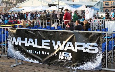 "The VIP seating area.  Animal Planet's Whale Wars Season 4 Premier: ""Operation No Compromise"" Antarctic Campaign. Hosted by Animal Planet, L.A. Times & Brand X at the Santa Monica Pier in Santa Monica, CA. Photography by Erin Suggett for Sea Shepherd. June 3, 2011 All Rights Reserved."