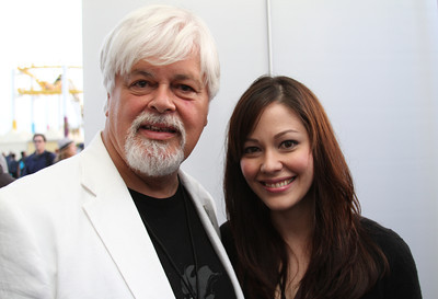 "Captain Paul Watson and daughter Lani in the VIP tent.  Animal Planet's Whale Wars Season 4 Premier: ""Operation No Compromise"" Antarctic Campaign. Hosted by Animal Planet, L.A. Times & Brand X at the Santa Monica Pier in Santa Monica, CA. Photography by Erin Suggett for Sea Shepherd. June 3, 2011 All Rights Reserved."