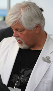 "Captain Paul Watson.  Animal Planet's Whale Wars Season 4 Premier: ""Operation No Compromise"" Antarctic Campaign. Hosted by Animal Planet, L.A. Times & Brand X at the Santa Monica Pier in Santa Monica, CA. Photography by Erin Suggett for Sea Shepherd. June 3, 2011 All Rights Reserved."