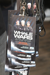 "VIP Laminates.  Animal Planet's Whale Wars Season 4 Premier: ""Operation No Compromise"" Antarctic Campaign. Hosted by Animal Planet, L.A. Times & Brand X at the Santa Monica Pier in Santa Monica, CA. Photography by Erin Suggett for Sea Shepherd. June 3, 2011 All Rights Reserved."