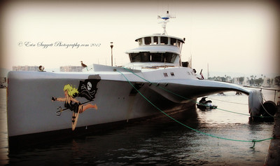 Sea Shepherd vessel, MV Brigitte Bardot, docked in Marina Del Rey, CA on November 3, 2012  © Erin Suggett Photography All Rights Reserved