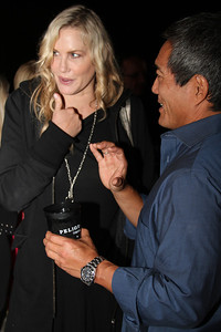 "Actress Daryl Hannah mingles with party guests.  Sea Shepherd launch party for the ""Operation No Compromise"" Antarctic Whale Defense Campaign and the Gojira Interceptor Vessel unveiling in Los Angeles, CA. on October 23, 2010"