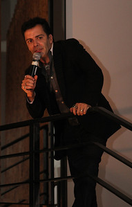 """Host James Costa introduces Captain Paul Watson.  Sea Shepherd launch party for the """"Operation No Compromise"""" Antarctic Whale Defense Campaign and the Gojira Interceptor Vessel unveiling in Los Angeles, CA. on October 23, 2010"""