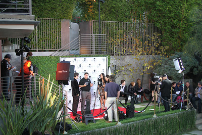 "The media preps for the red carpet arrivals.  Sea Shepherd launch party for the ""Operation No Compromise"" Antarctic Whale Defense Campaign and the Gojira Interceptor Vessel unveiling in Los Angeles, CA. on October 23, 2010"