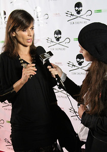 "Actress Perrey Reeves is interviewed on the red carpet.  Sea Shepherd launch party for the ""Operation No Compromise"" Antarctic Whale Defense Campaign and the Gojira Interceptor Vessel unveiling in Los Angeles, CA. on October 23, 2010"