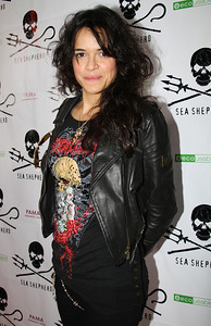 """Actress Michelle Rodriguez arrives on the red carpet.  Sea Shepherd launch party for the """"Operation No Compromise"""" Antarctic Whale Defense Campaign and the Gojira Interceptor Vessel unveiling in Los Angeles, CA. on October 23, 2010"""