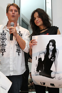 "Charity auction with announcer Ken Rutkowski and actress Michelle Rodriguez.  Sea Shepherd launch party for the ""Operation No Compromise"" Antarctic Whale Defense Campaign and the Gojira Interceptor Vessel unveiling in Los Angeles, CA. on October 23, 2010"