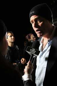 "Charles Hambleton is interviewed on the red carpet  Sea Shepherd launch party for the ""Operation No Compromise"" Antarctic Whale Defense Campaign and the Gojira Interceptor Vessel unveiling in Los Angeles, CA. on October 23, 2010"
