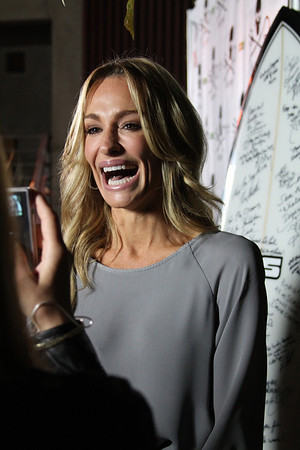 "Taylor Armstrong of ""The Real Houswives of Beverly Hills"" is interviewed on the red carpet.  Sea Shepherd launch party for the ""Operation No Compromise"" Antarctic Whale Defense Campaign and the Gojira Interceptor Vessel unveiling in Los Angeles, CA. on October 23, 2010"