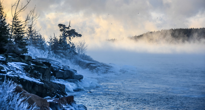 Frozen shore, South Gouldsboro