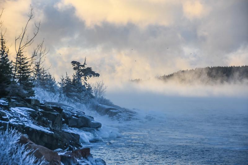 Frozen shore - South Gouldsboro
