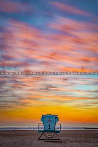 1-16x20 pismo lifeguard tower sunset 6691c