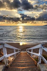 1-20x30 shell-beach-stairs-sunrays-1405